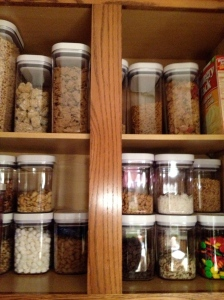 OXO Pop Containers. One cabinet done.